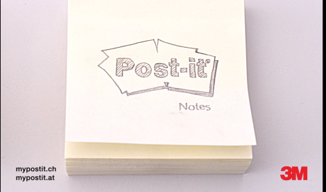 Post-it flip-book movie